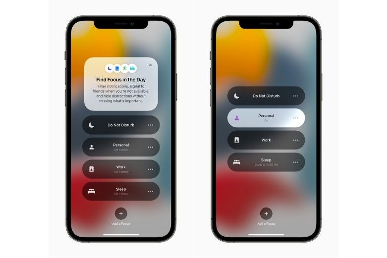 New focus tools being used on iOS 15
