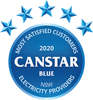 NSW Electricity Providers 2020 Award Canstar Blue