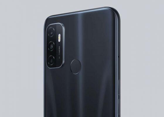 OPPO A53 phone in black