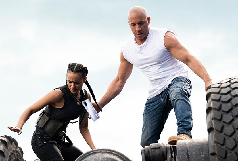 Image from Fast & Furious 9 showing Vin Diesel