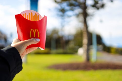 Average cost of fast food in Australia