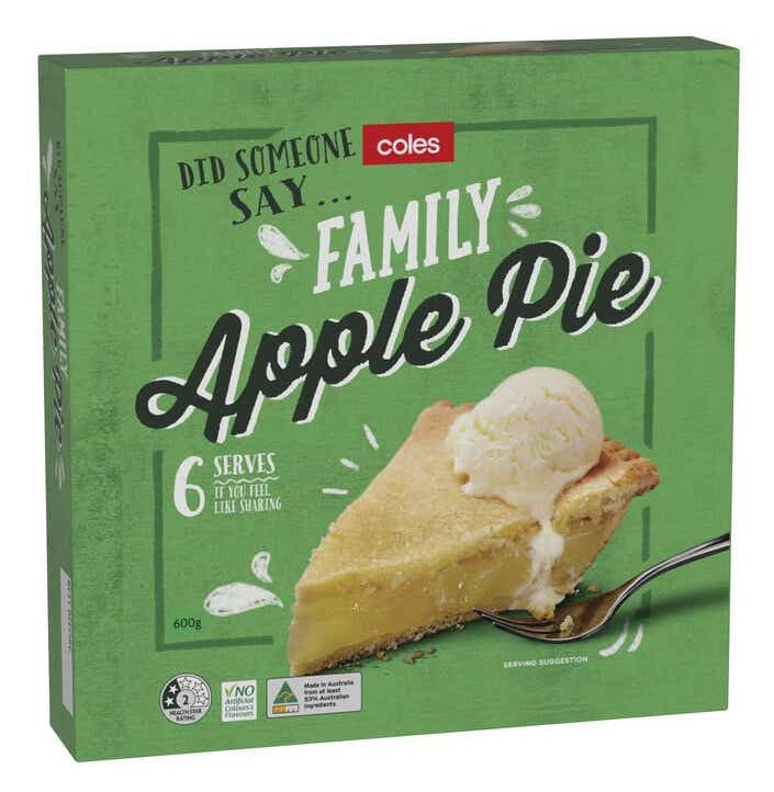 Coles pie and crumble review