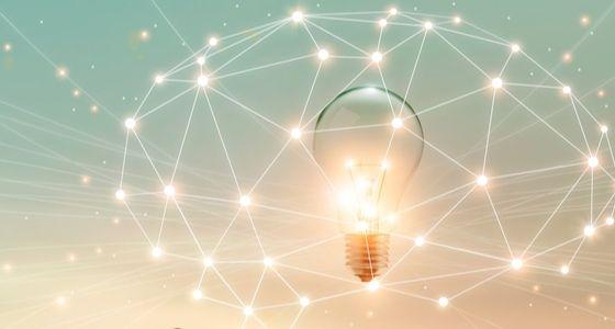 Light bulb in an energy web