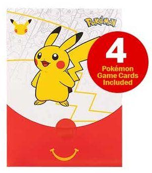 Pikachu pokemon trading card McDonald's