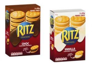 Ritz crackers choc & vanilla