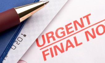 Final bill notice on electricity bill