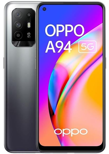 Front and back of OPPO A94 5G phone