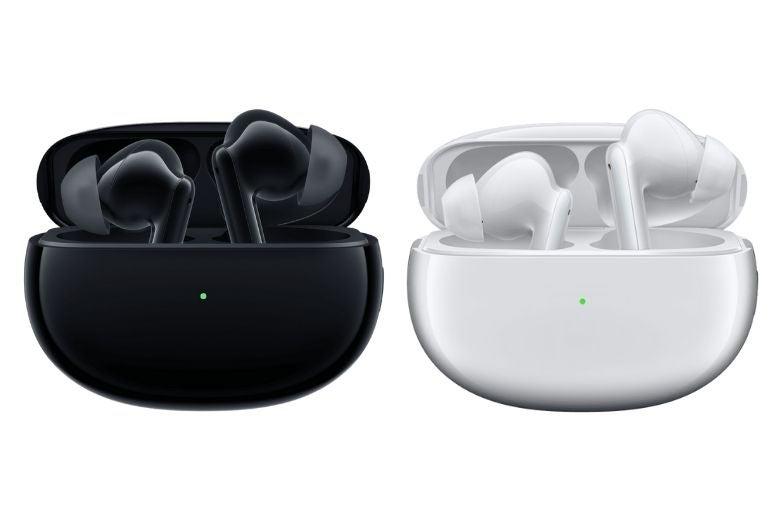 The OPPO Enco X wireless earphones in two colours