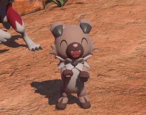 Still of Rockruff Pokemon from New Pokemon Snap game update