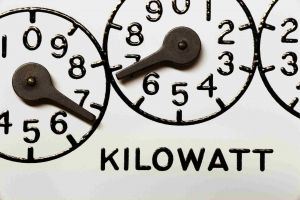 Energy meter in kilo-watt hours