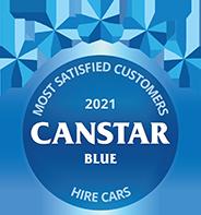 Canstar Blue 2021 Hire Cars Award Logo