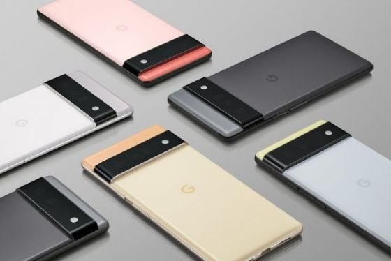 A selection of Pixel 6 and Pixel 6 Pro phones