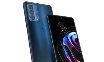 Motorola Edge 20 Pro in blue
