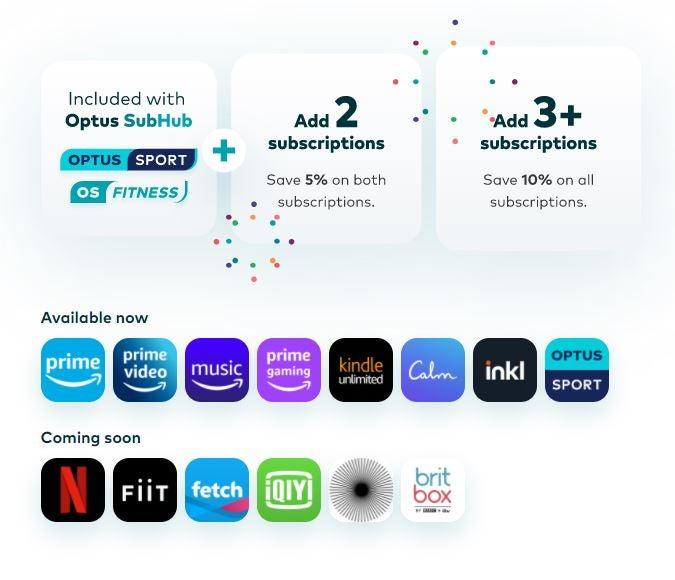 Screenshot of SubHub offers