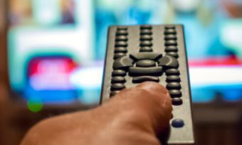 Watching TV with remote