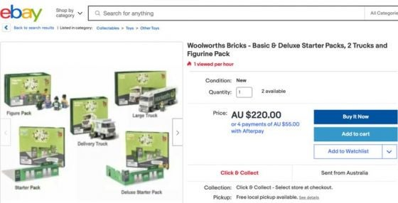 Woolworths ebay collectables