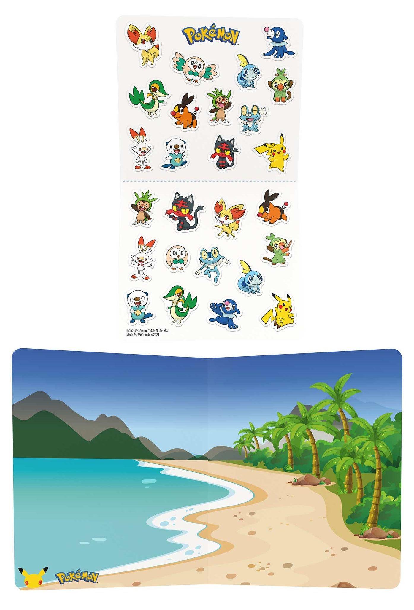 Mcdonald's pokemon stickers
