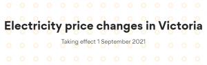 Origin Energy VDO price change banner