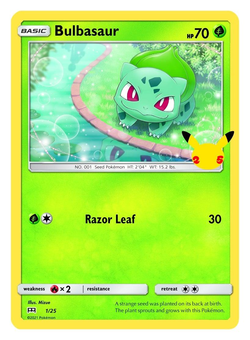 Pokemon Bulbasaur trading card