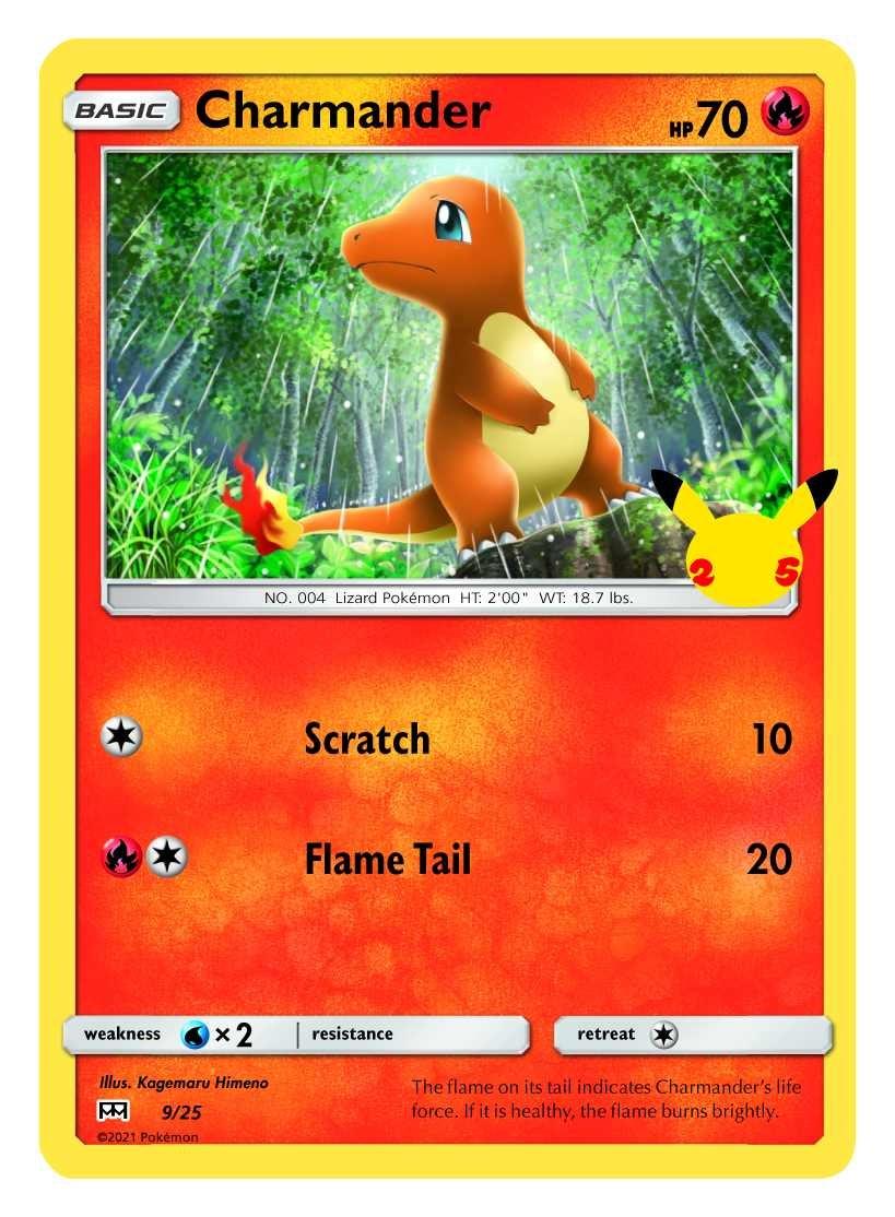 Pokemon Charmander trading card