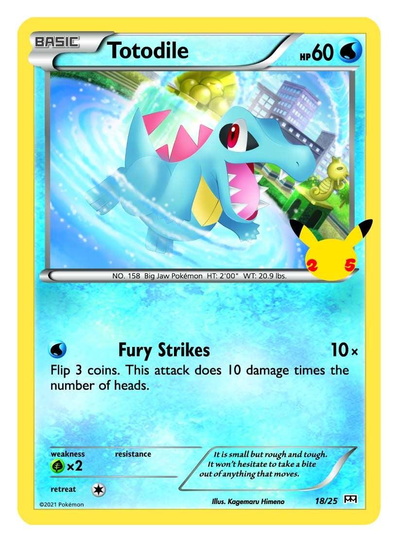 Pokemon Totodile trading card