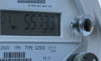 Smart meter on the outside of a house