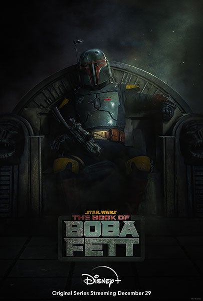 Promotional poster from The Book of Boba Fett Star Wars show