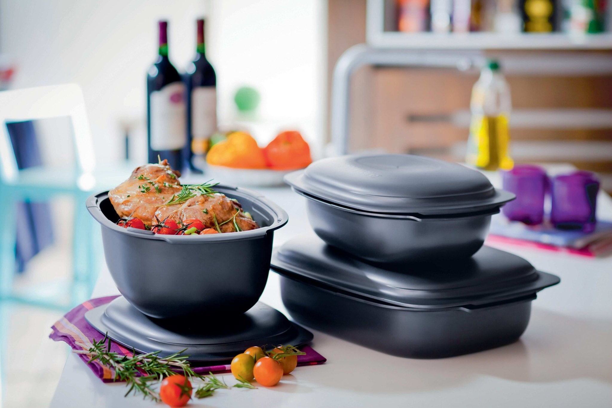 Tupperware food storage containers