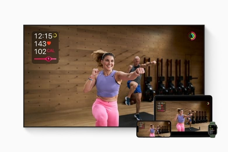 A person using Apple Fitness+
