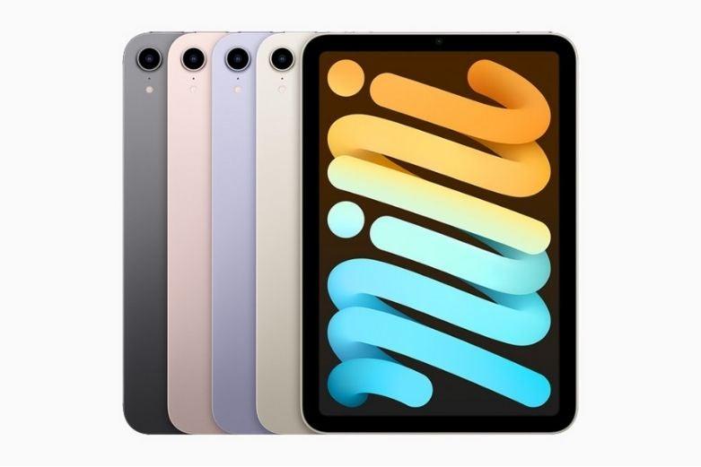 The iPad Mini in several different colours