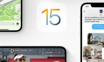 iOS 15, surrounded by iPhones using iOS 15