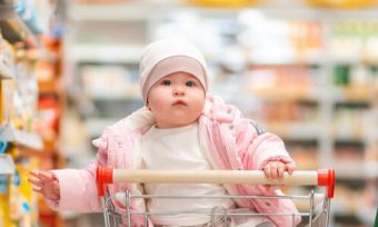 Parents buy products for baby