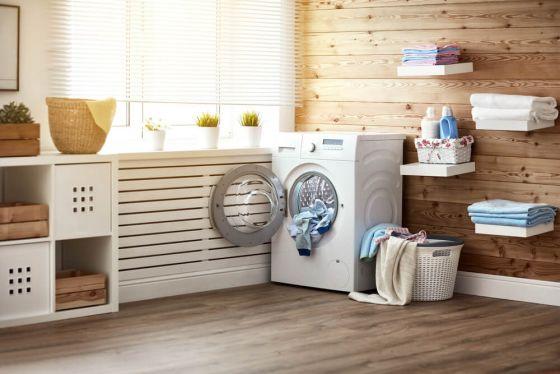 Washing machine in laundry