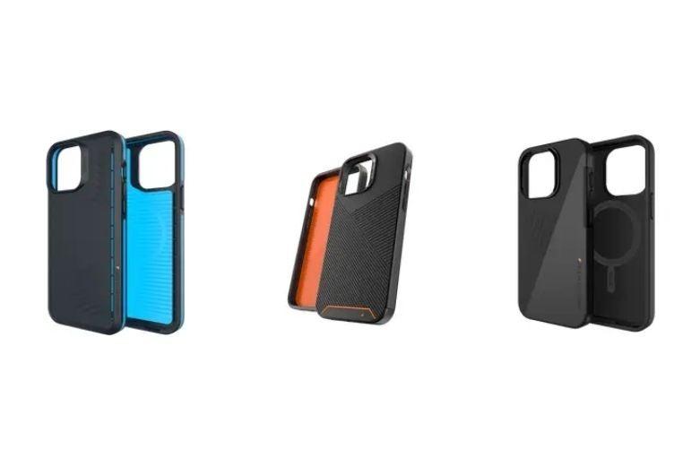 Three ZAGG Gear4 cases
