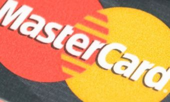 Mastercard on a benchtop