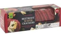 Woolworths Beetroot Wafer Crackers