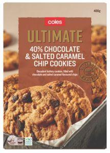 Coles Ultimate Salt Caramel Chip Cookies