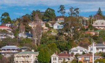 Launceston in Tasmania view of houses
