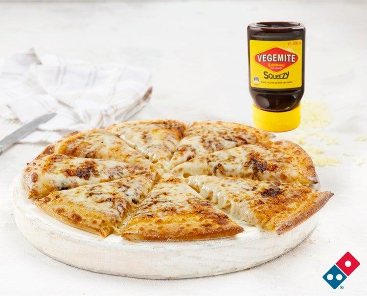 Domino's cheese and vegemite pizza