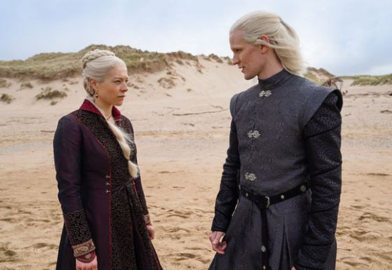 Still of two Targaryen characters from Game of Thrones prequel show House of the Dragon