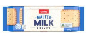 Coles Malted Milk Biscuits
