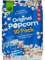 Woolworths Original Gluten-Free Popcorn
