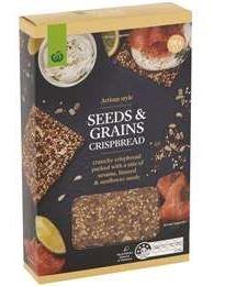 Woolworths Artisan Style Seeds & Grains Crispbread