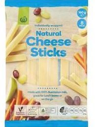 Woolworths Natural Cheese Sticks