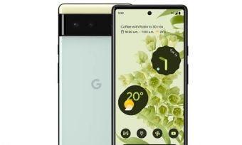 Google Pixel 6 in green
