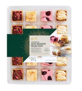 Gold Luxurious Mini Dessert Selection