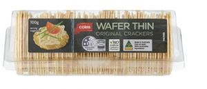 Coles Wafer Thin Original Crackers