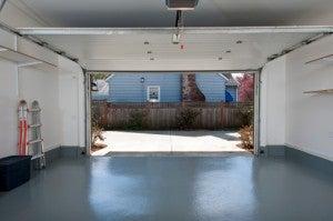 Garage door open