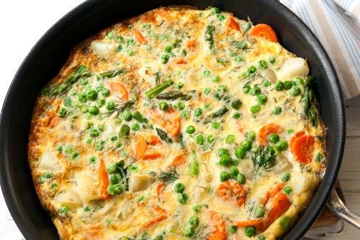 Vegetable frittata - 10 healthy winter warmer comfort foods