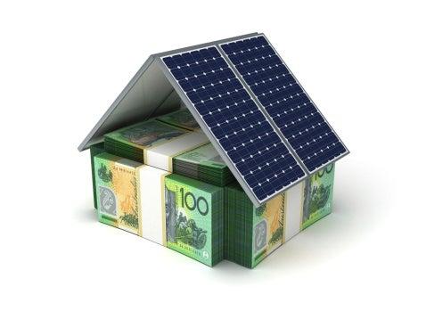 Solar energy money house concept